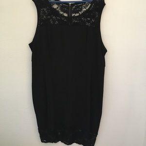 Torrid sz 24 Black sheath dress with lace